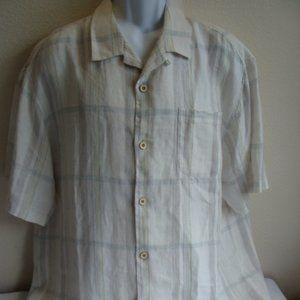 Tommy Bahama Linen Camp Button Down Shirt Size XL